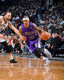 Mar 9, 2014, Sacramento Kings vs Brooklyn Nets - Isaiah Thomas Photographic Print by Jesse D. Garrabrant