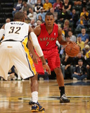 Nov 8, 2013, Toronto Raptors vs Indiana Pacers - Kyle Lowry, C.J. Watson Photographic Print by Ron Hoskins