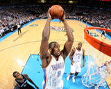 Apr 3, 2014, San Antonio Spurs vs Oklahoma City Thunder - Serge Ibaka Photographic Print by Layne Murdoch