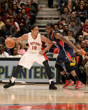 Mar 23, 2014, Atlanta Hawks vs Toronto Raptors - DeMar DeRozan, DeMarre Carroll Photographic Print by Ron Turenne