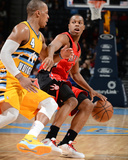Jan 31, 2014, Toronto Raptors vs Denver Nuggets - Kyle Lowry Photographic Print by Garrett Ellwood