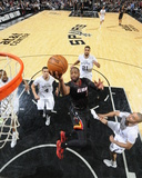 Mar 6, 2014, Miami Heat vs San Antonio Spurs - Dwayne Wade Photographic Print by D. Clarke Evans