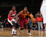 Feb 7, 2014, Cleveland Cavaliers vs Washington Wizards - Kyrie Irving Photographic Print by Ned Dishman