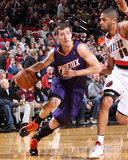 Apr 4, 2014, Phoenix Suns vs Portland Trail Blazers - Goran Dragic, Nicolas Batum Photographic Print by Sam Forencich