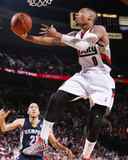 Mar 30, 2014, Memphis Grizzlies vs Portland Trail Blazers - Damian Lillard Photographic Print by Sam Forencich