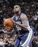 Apr 6, 2014, Memphis Grizzlies vs San Antonio Spurs - Zach Randolph Photographic Print by D. Clarke Evans