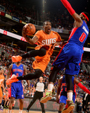 Mar 21, 2014, Detroit Pistons vs Phoenix Suns - Eric Bledsoe Photographic Print by Barry Gossage