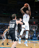 Apr 3, 2014, San Antonio Spurs vs Oklahoma City Thunder - Serge Ibaka Photo by Layne Murdoch