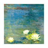Flowers in the Pond Giclee Print by Andrew Michaels