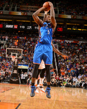 Apr 6, 2014, Oklahoma City Thunder vs Phoenix Suns - Serge Ibaka Photo by Barry Gossage
