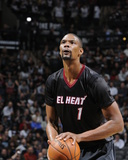 Mar 6, 2014, Miami Heat vs San Antonio Spurs - Chris Bosh Photo by D. Clarke Evans