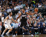 Mar 29, 2014, Sacramento Kings vs Dallas Mavericks - Rudy Gay Photographic Print by Glenn James