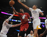 Dec 25, 2013, Miami Heat vs Los Angeles Lakers - Chris Bosh, Wesley Johnson Photographic Print by Juan Ocampo