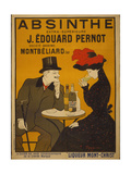 Reclameposter Absinthe, Franse tekst Print
