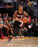 Apr 1, 2014, Portland Trail Blazers vs Los Angeles Lakers - Damian Lillard Photographie par Andrew Bernstein