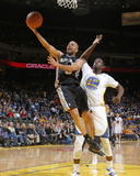 Mar 22, 2014, San Antonio Spurs vs Golden State Warriors - Tony Parker, Draymond Green Fotografisk trykk av Rocky Widner