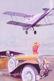 Vintage Airport Giclee Print by Anna Polanski