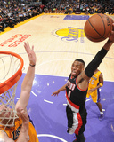 Apr 1, 2014, Portland Trail Blazers vs Los Angeles Lakers - Damian Lillard Photographic Print by Andrew Bernstein