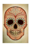 Day of the Dead Skull II Print by Anna Polanski
