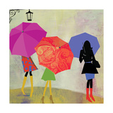 Umbrella Girls Giclee Print by Andrew Michaels
