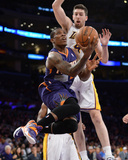 Mar 30, 2014, Phoenix Suns vs Los Angeles Lakers - Eric Bledsoe, Ryan Kelly Photographic Print by Noah Graham