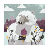 Polar Bear Giclee Print by Anna Polanski