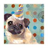 Pug Love Giclee Print by Anna Polanski