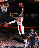 Apr 6, 2014, New Orleans Pelicans vs Portland Trail Blazers - Damian Lillard Photographic Print by Sam Forencich