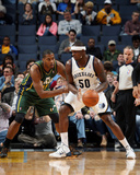 Mar 19, 2014, Utah Jazz vs Memphis Grizzlies - Zach Randolph, Derrick Favors Photographic Print by Joe Murphy