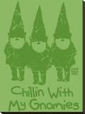 Chillin With My Gnomies Trykk på strukket lerret av Todd Goldman
