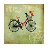 Bicycle Traffic Giclee Print by Andrew Michaels