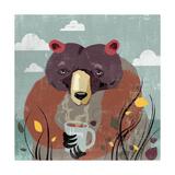 Honey bear Kunstdrucke von Anna Polanski