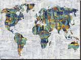 Painted Colour Map Stretched Canvas Print by Paul Duncan