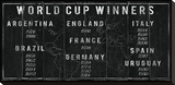 World Cup Winners Stretched Canvas Print by  The Vintage Collection