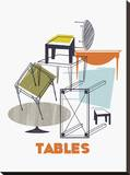 A Collection of Tables Stretched Canvas Print by Laure Girardin-Vissian