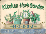 Kitchen Herb Garden Tin Sign