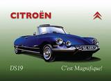 Citroen DS19 Cartel de metal