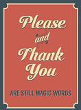 Please and Thank You Plakietka emaliowana