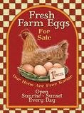 Fresh Farm Eggs Plaque en métal