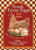 Fresh Farm Eggs Tin Sign