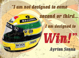 Ayrton Senna Plaque en métal