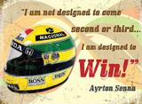 Ayrton Senna Cartel de metal