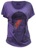 Womens: David Bowie - Aladdin Sane (dolman) Tshirts