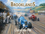 Brooklands - Out of the Pits Blechschild von Kevin Walsh