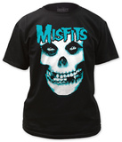 Misfits - Blue Logo with White Skull Shirts