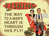 Fishing - The Way to a Mans Heart Carteles metálicos
