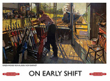 Early Shift Tin Sign
