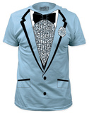 Retro Prom Costume Tee - Light Blue (slim fit) T-shirts