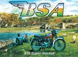 BSAA10 Super Rocket Tin Sign by Trevor Mitchell