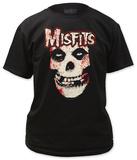 Misfits - Bloody Misfits Skull T-shirts